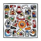 Confezione da 24tradizionali decorazioni da appendere all' albero di Natale, multicolore