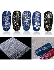 3D Bronzing Silber Nail Sticker Set Zufällige Mischung 12 Blatt DIY Nail Art Decals von UmayBeauty