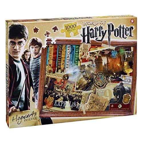 Winning Moves 022576 - Puzzle Puzzle 1000 Pezzi Harry Potter Hogwarts, Versione Italiana