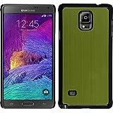 Funda Rígida para Samsung Galaxy Note 4 - metálico verde - Cover PhoneNatic Cubierta + protector de pantalla