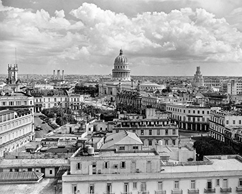 Vintage Images – 1930s-1940s View From Sevilla Hotel Of Capitol Building Skyline Of Havana Cuba Kunstdruck (27,94 x 35,56 cm) (Capitol Hotel)