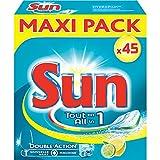 Sun Tablettes Lave-Vaisselle Tout en 1 Citron x45 Pastilles
