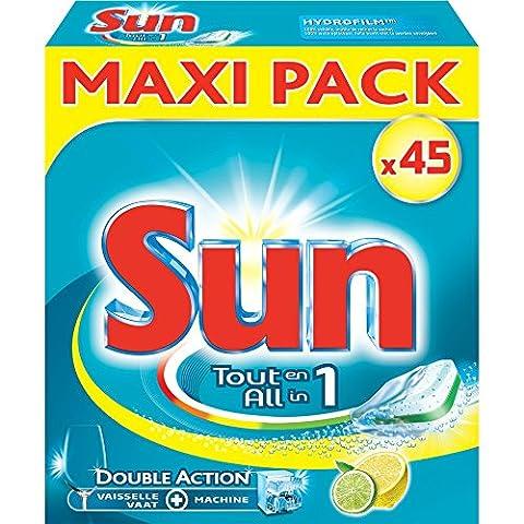 Sun Tablettes Lave-Vaisselle Tout en 1 Citron x45