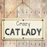 Crazy Cat Lady - Cat Lover Gift Love Heart Frame Sign