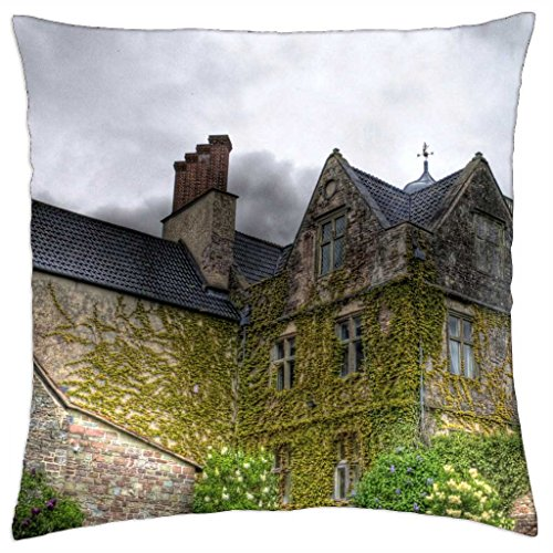 lovely english manor house hdr - Throw Pillow Cover Case (18\