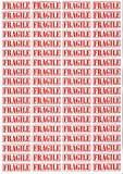 #1: IMPRINT'S HIGH QUALITY FRAGILE RED RECTANGULAR STICKERS 144