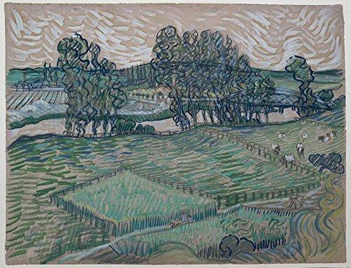 Spiffing Prints Vincent Van Gogh - The Oise at Auvers, 1890 - Large - Matte Print -