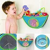 Baby Bad Spielzeug Organizer Spielzeugnetz Spielzeugtasche mit 2 Zusätzlichen Saugknöpfen Blau