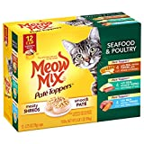 Meow Mix Pate Toppers Seafood and Poultry Variety Pack Wet Cat Food, 2.75 oz, 12 count