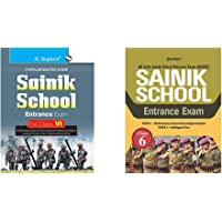 Sainik School Entrance Exam Guide for (6th) Class VI+Sainik School Class 6 Guide 2021(Set of 2 books)