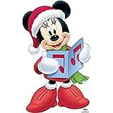 Star Cutouts Ltd Divertido cartón 1 dimensión tamaño Real Disney Minnie Mouse Coro Carol 93 x 58 cm, decoración de Navidad ex