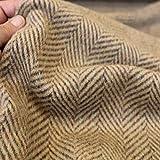 Designer Winter Wollstoff Fischgrat schwere flauschige