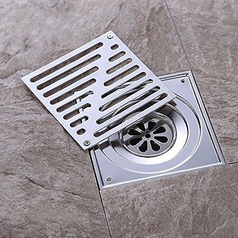 Mjj 304 acciaio inossidabile piano sgocciolatoio 150*150mm Doccia a pavimento griglia di scarico,Chrome Luxury classic la resistenza alla corrosione di risolvere diversi tipi di problemi