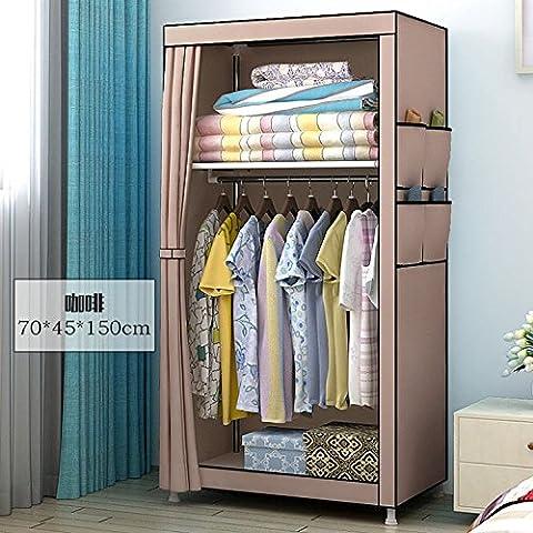 WJP modernos armarios simplificada de tela de refuerzo de bricolaje armario ropero W-291