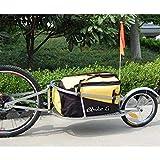 Remolque de bicicleta ebikeco carga mochila, 1 rueda amarillo. España, Garantía