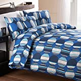 Fusion Orion Geometric Circle Print Duvet Cover Set, Blue, Double