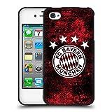 Offizielle FC Bayern Munich Verzweifelt 2017/18 Muster Soft Gel Hülle Schwarz für Apple iPhone 4 / iPhone 4S