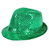 SMIFFY 'S 44382 – Sequin Trilby Sombrero, color verde