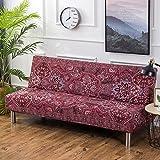 iShine Sofabezug Überwürfe Ohne Armlehnen Schlafsofa mit Stretch Sofahusse Slipcover Sofa Abdeckung in verschiedene Größe und Farbe-C