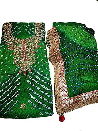 Jaipuri-Rajasthani-Suit-Art-Silk-Bandhej-With-Gota-Patti-Work