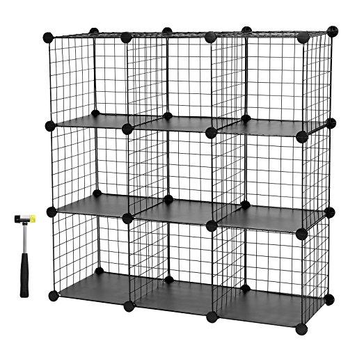 SONGMICS 9 Cubos Armario de almacenaje de Ropa Estantería por módulos 93 x 31 x 123 cm LPI115H