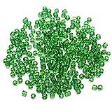 Beadsnfashion Seed Bugles Beads Green Tr...