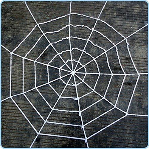 Unho 1.52 meters Spider Spinnennetz Netz spinnen Riesen-Dekoration, weiß, 1,5 m), gruselige Halloween-Dekoration mit Spinnennetz (Spinne Riesen Dekoration)