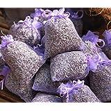 10 saquitos / seca - Set de lavanda aromática ecológica / bio / organic - Total 100g Flores de lavanda - de Quertee®