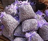 10 x Lavendelsäckchen mit duftenden BIO Lavendel - Insgesamt 100g BIO Lavendelblüten