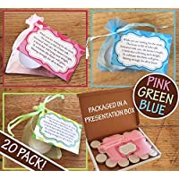 20 Pack | Baby Shower Candles | Pink Blue Neutral Green | Gift Present Favour