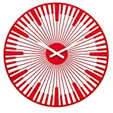 Koziol Piano Reloj de Pared, Rojo