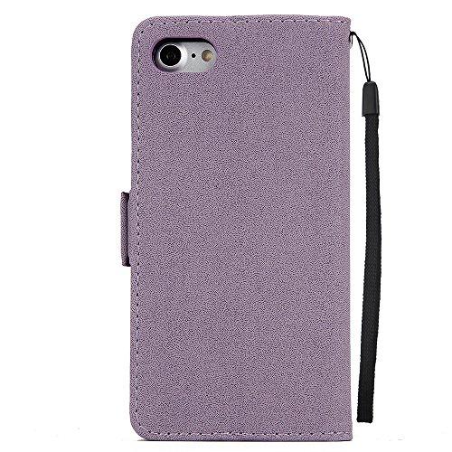 """iPhone 6s Hülle,iphone 6 4.7 Case, MOONESS Schutzhülle PU Leder Flip Tasche Case mit Standfunktion und Karte Halter für iPhone 6s/iphone 6 4.7""""(Rot) Violett"""