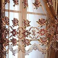 SQDJJCL-tenda romantico soggiorno lussuoso velluto oro ricamo Villa di lusso personalizzato in tessuto tende di lusso,Sheers - Personalizzati Sheer