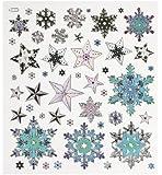 Hobby Design Sticker * Sterne Eiskristalle Winter * Aufkleber 3452361