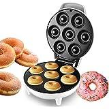 Machine à donuts - Ustensile de cuisine - Antiadhésif - Chauffage automatique - Pour petit déjeuner, tarte aux œufs - 1200 W