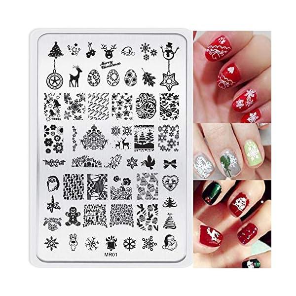 Malloom® navidad imagen DIY Clavo Arte de uñas sello estampación placas Plantilla de manicura