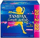 Tampax Centraline percorso freschi regolari attivi 22 applicatori tamponi con plastica - Set di 3