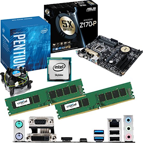 Intel Skylake Core I3 6100 3.7ghz, Asus Z170-p Motherboard & 8gb 2133mhz Ddr4 Crucial Ram Bundle Picture
