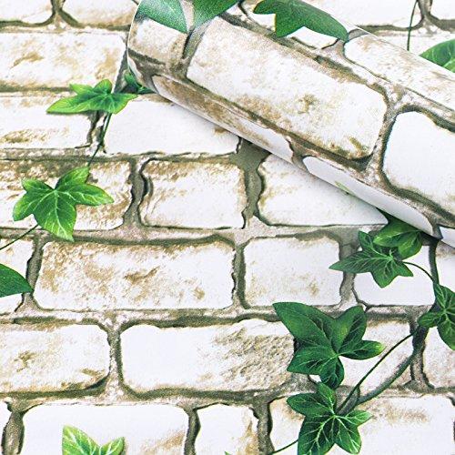Loaest 60Cm Breit Pvc Verdickung Tapeten Wohnzimmer Schlafzimmer Schlafsaal Hintergrund Wand Tisch Schrank Wasserdicht Renoviert Tapeten Ivy Dränleitungen