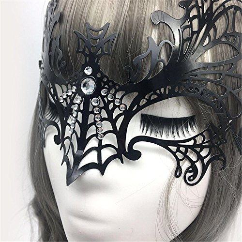 Face mask shield veil guard screen domino false front Nightclub queen black sexy bat mask dance princess half face mask female COS party fun iron mask