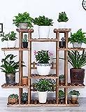 LLDHUAJIA LIANLIAN Blumenregal Holz Bodenart Blumentopf Regal europäischer Stil Innen- Draussen Einlegeböden Pflanzenregale Pflanzenregal (Farbe : E)