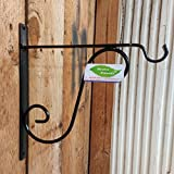 #1: Minerva Naturals Wall Hanging L Bracket-Wrought Iron (3cm X 27cm X 27cm), Black