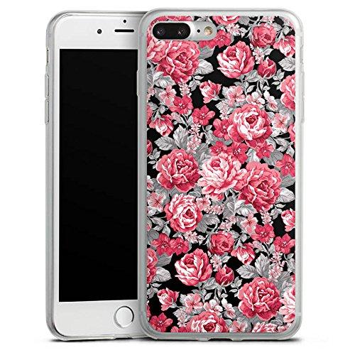 Apple iPhone 8 Slim Case Silikon Hülle Schutzhülle Blumen Bunt blumenmuster Silikon Slim Case transparent