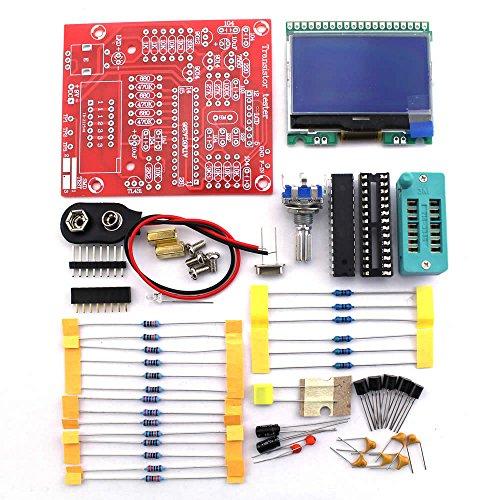 KKmoon M328 Multifunktions Transistor Tester Widerstand Diodenkapazität Transistor Frequenzmessung Signalgenerator