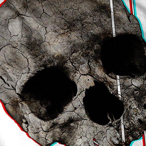 Abstrakt Rock Gote Schädel Krieg Seele Damen Schwarz S-2XL Muskelshirt | Wellcoda Weiß