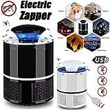 Cozywind Lampe Anti-Moustique LED Destructeur de Moustique Électronique Lampe Mosquito Tueur Fly Killer USB Chargeur (Black)