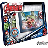 Kids Licensing Avengers (MV15407) Set Orologio Digitale e Portafoglio