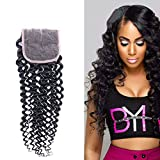 Wendy Hair 9A 1Natural Schwarz Farbe 25,4cm Gelockt gratis Teil 4x 4Spitze Schließung Malaysischen Echthaar Virgin Remy Echthaar, seidig Lace Top Closure für Erwachsene Frauen