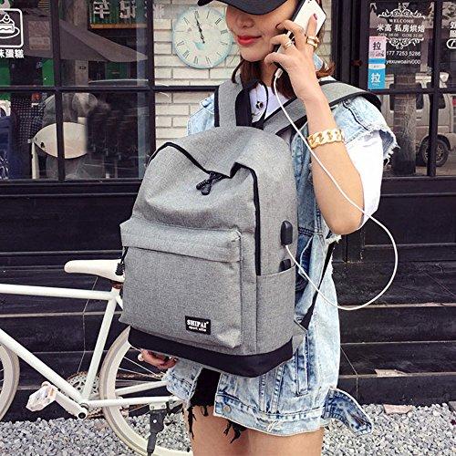 Imagen de esailq bolsos  de unisex mini lona escolares para adolescentes niños niñas estudiantes gris  alternativa