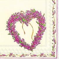 SWEET COUNTRY-Ghirlanda di carta con motivo a forma di cuore da tavolo, tovaglioli di carta, confezione da 20 pezzi, 33 cm